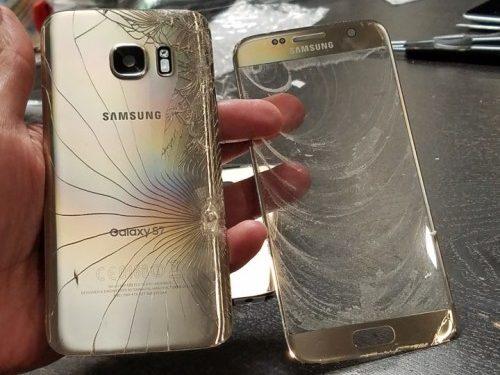 Reparatie ecran sticla samsung galaxy s7
